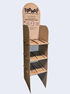 comptoir personnalisé en carton