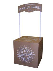 Stand comptoir carton